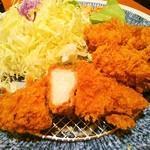 とんかついなば和幸 町田店 - 牡蠣ロース(アップ)