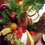 どろまみれ - 生野菜15種盛り