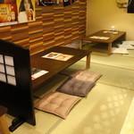 串揚げ専門店 浪漫亭 - お座敷を作りました。靴を脱いでリラックス♪