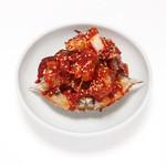 ヤンニョムケジャン(韓国直送のワタリガニの薬味ダレ漬け) カニみそビビンバ用のライス・のりセット付き
