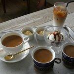 rub luck cafe - アイスカフェオレ\400・コーヒー\360
