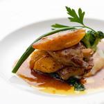 レストラン浜比庭 - 料理写真:フォアグラのポアレ