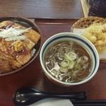 蝦夷前そばと豚丼 北堂 - 豚丼とミニかき揚げ蕎麦