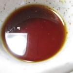 原口そば - 汁。                                       28.2.26