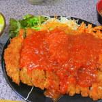 ハイライト - ジャンボチキンカツ定食ライス小600円
