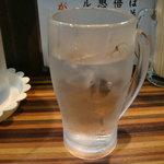 ラーメンつけ麺 笑福 - お水もジョッキサイズ
