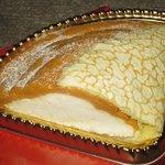 ラ・メール・プラール - 「塩キャラメルのオムレツケーキ ハーフ(\630)」。