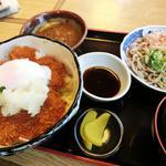 梅林 - 醤油かつ丼とおろし蕎麦セット1200円