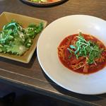 47921109 - パスタランチ トマトソースとサラダ