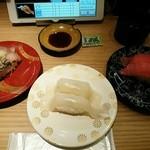 築地 銀一丁 - にしん190円+真イカ120円+まぐろ150円
