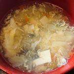 好味苑 - 好味苑 @本蓮沼 ライスセットの具沢山溶き玉子スープ