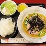 47926217 - 冷麺定食(ハム)!!(。・ω・。)ノ♡