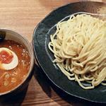 47933640 - 【辛味つけ麺 中盛り + 味玉】¥760 + ¥100