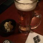 かくれ家創庫 蔵之介 - 生ビール&お通し