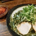 つけ麺本舗 辛部 - のりねぎつけ麺(一玉)税込700円
