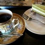 喫茶 たなかや - コーヒー&抹茶ミルクケーキ