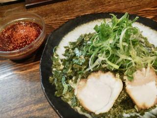 つけ麺本舗 辛部 十日市店 - のりねぎつけ麺(一玉)税込700円
