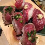 九州うまか - 【熊本】桜肉寿司の2種盛