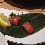九州うまか - 【福岡】博多明太子と炙り明太子の食べ比べ