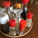 永井食堂 - 卓上。