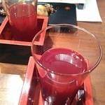 美味酒菜 武蔵乃 - 食前酒:すっぽん生血(日本酒割り)