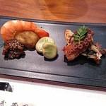 美味酒菜 武蔵乃 - 前菜:四季のお任せ盛り