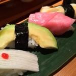 47948043 - 野菜寿司:長芋/アボカド/赤かぶ/椎茸