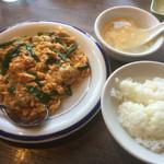 47948705 - 広島産牡蠣とニラと玉子炒め