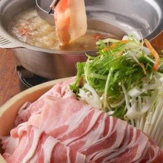 六白黒豚しゃぶしゃぶ食べ放題大人3000円/小学生2400円