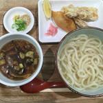 さぬきうどん 凡蔵 - 肉しるつけ麺セット850円(^^)