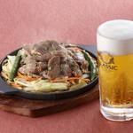 松尾ジンギスカン - ビールセット ¥1150