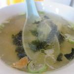 茅ヶ崎ひだまり食堂 - わかめとねぎのスープアップ