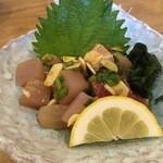 海人居酒屋 源 - 近海魚にんにく酢醤油