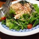 旬鮮台所 こがね家 - 自家製豆富の和風サラダ