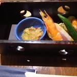 旬鮮台所 こがね家 - 前菜の盛り合わせ3種