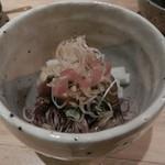 ちょい家 - ほたるいかとウドの酢味噌和え(2016年2月)
