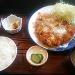 和食富味 - トリムネフライ玉子とじ定食