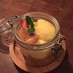 Wine Terrace Yume - デザートの柚子のソルベ。量も多く甘さも程よくこれはオススメです!