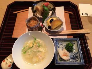 日本料理 山崎 - 白菜と蟹の雑炊
