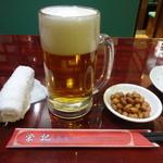 栄記香辣坊 - 生ビール、ピーナツ