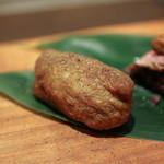 かわ村 - 2016年2月再訪:メイン Second 和牛ホホ肉とポルチーニ茸の稲荷☆