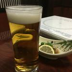 札幌かに本家 - 生ビール