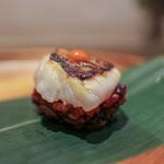 かわ村 - 2016年2月再訪:握リゾット Risotto ノドグロ 赤柚子胡椒☆