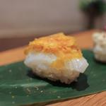 かわ村 - 2016年2月再訪:握リゾット Risotto アオリ烏賊 カラスミ☆