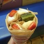 47969637 - 抹茶ブラウニーと苺のミルフィーユ370円(クーポン価格250円)
