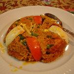 インド・ネパール料理 FULBARI - チキンビリヤニです かなりベタッと&オイリーです