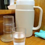 日乃屋カレー - お水はセルフで