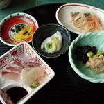 カフェレストラン 瀬里家 - 刺身、小鉢