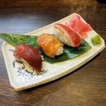 47975838 - 桜肉の握り寿司