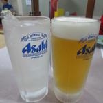 魚料理 克政 - チューハイレモンと生ビール